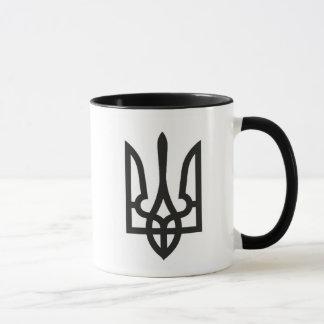 Ukraine national emblem country symbol flag mug