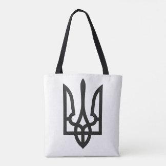 Ukraine national emblem country symbol flag tote bag