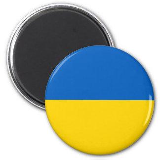 Ukraine National Flag 6 Cm Round Magnet
