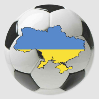 Ukraine national team classic round sticker