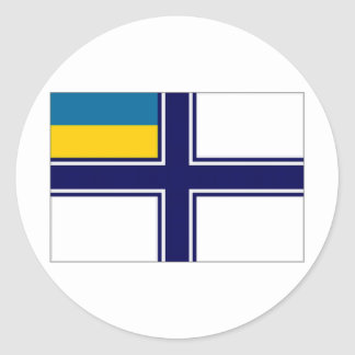 Ukraine Naval Ensign dress Flag Classic Round Sticker