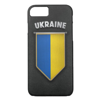 Ukraine Pennant with high quality leather look iPhone 7 Case