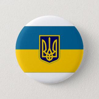 Ukraine President at sea Flag 6 Cm Round Badge