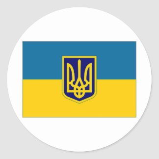 Ukraine President at sea Flag Classic Round Sticker