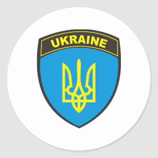 Ukraine Shield Classic Round Sticker
