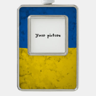 Ukraine Silver Plated Framed Ornament