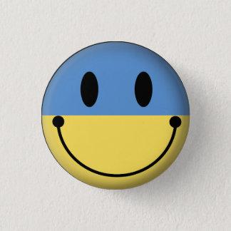 Ukraine Smiley 3 Cm Round Badge