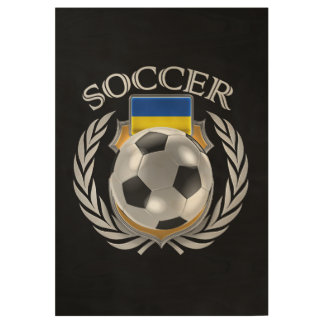 Ukraine Soccer 2016 Fan Gear Wood Poster