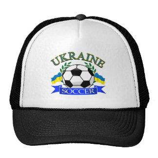 Ukraine soccer ball designs mesh hat
