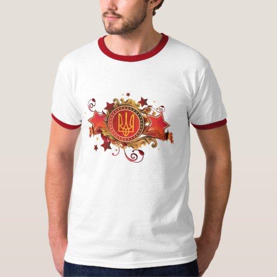 Ukraine T-Shirt. Designed emblem T-Shirt