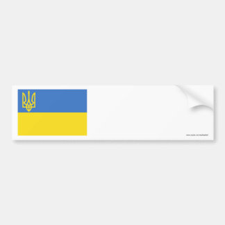 Ukraine Traditional Flag Bumper Sticker