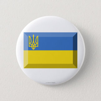 Ukraine Traditional Flag Jewel 6 Cm Round Badge