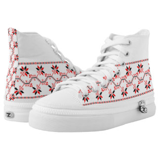 ukraine traditional folk motif ethnic geometric fl high tops