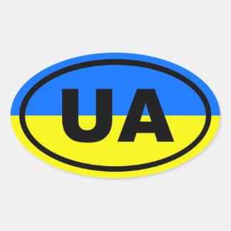 Ukraine UA European Oval Sticker