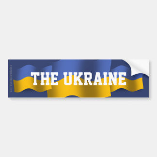 Ukraine Waving Flag Bumper Sticker