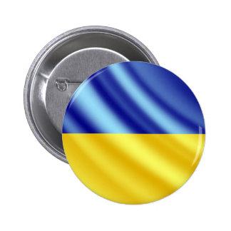 Ukraine waving flag button