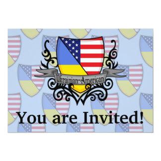 Ukrainian-American Shield Flag 13 Cm X 18 Cm Invitation Card