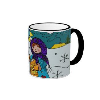 Ukrainian Christmas Carolers Coffee Mugs