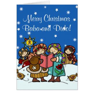 Ukrainian Christmas Carollers Cards