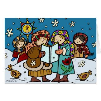 Ukrainian Christmas Carollers Greeting Cards