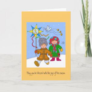 Ukrainian christmas cards zazzle uk ukrainian christmas carollers holiday card m4hsunfo