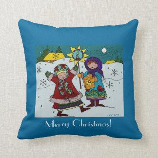 Ukrainian Christmas Carollers Pillows