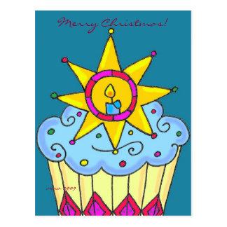 Ukrainian Christmas Cupcake to Personalize Post Cards