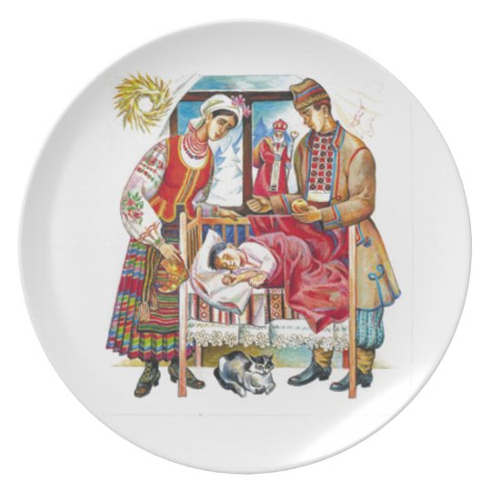 Ukrainian Christmas Day Party Plate