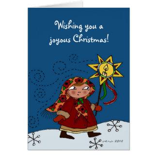 Ukrainian Christmas Star Card