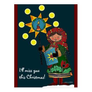 Ukrainian Christmas Star Post Cards