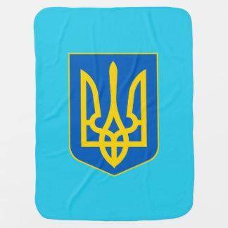 Ukrainian coat of arms baby blanket
