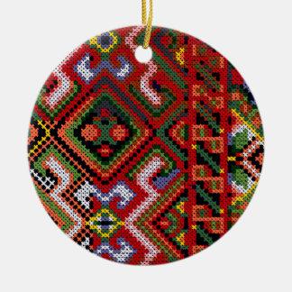 Ukrainian Cross Stitch Embroidery Ornament