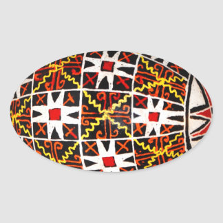 Ukrainian Easter Egg Oval Sticker