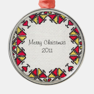 Ukrainian Embroidery Christmas Ornament