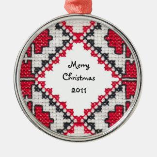 Ukrainian Embroidery Christmas Tree Ornament