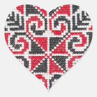 Ukrainian Embroidery Heart Sticker