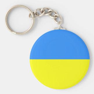 Ukrainian Flag Basic Round Button Key Ring