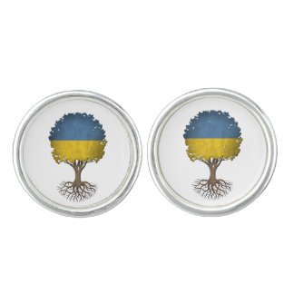 Ukrainian Flag Tree of Life Customizable Cufflinks