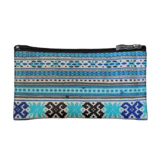 Ukrainian Folk Design double-sided Makeup Bag