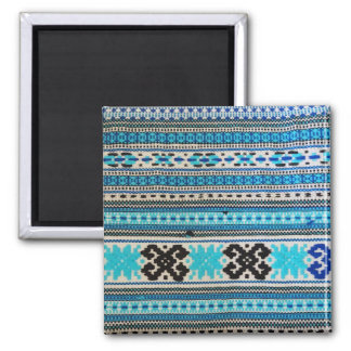 Ukrainian Folk Design Square Magnet