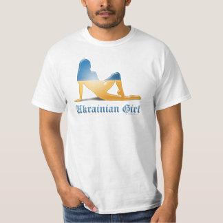 Ukrainian Girl Silhouette Flag Shirts
