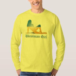 Ukrainian Girl Silhouette Flag T-Shirt