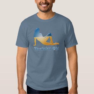 Ukrainian Girl Silhouette Flag T Shirt