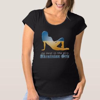Ukrainian Girl Silhouette Flag T Shirts