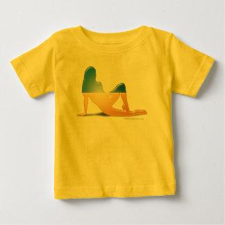 Ukrainian Girl Silhouette Flag Tshirts
