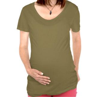 Ukrainian Girl Silhouette Flag Maternity Top