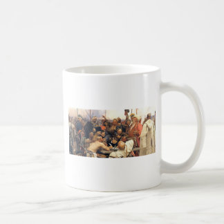 Ukrainian Kozaky/Cossacks by Repin Basic White Mug