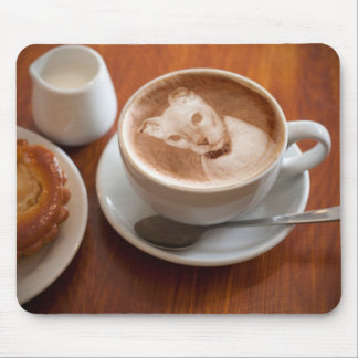 Ukrainian Levkoy Cat Latte Art Mousepad