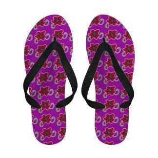 Ukrainian Poppy Flip-Flops