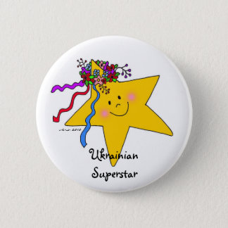 Ukrainian Superstar 6 Cm Round Badge